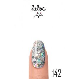 Laloo Ημιμόνιμο No.142 Ασημί Ιριδίζον (Χοντρή Πούλια) 15ml