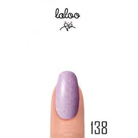 Laloo Ημιμόνιμο No.138 Εφέ μαρμάρου Μωβ-λιλά 15ml