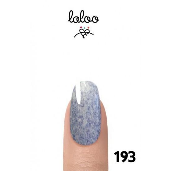 Laloo Ημιμόνιμο No.193 Εφέ Μαρμάρου Γαλάζιο 15ml