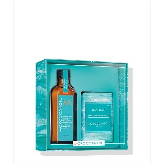 Moroccanoil Home & Away For All Hair Types (Oil Treatment 100ml, Soap 200gr)