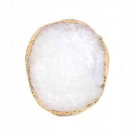 Μαρμάρινη παλέτα ανάμειξης χρωμάτων Στρογγυλή Λευκή