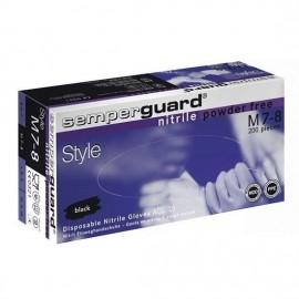 Semperguard Style Γάντια Νιτριλίου Χωρίς Πούδρα Large (Μαύρο) 100τεμ.