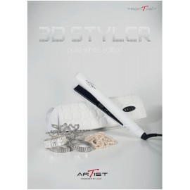 Artist Πρέσα 3D Styler Pure White LIMITED  EDITION ΜΕ ΠΛΑΚΕΣ ΑΠΟ ΔΙΑΜΑΝΤΙ