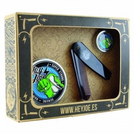 Hey Joe Survival Kit Super Strong (pomade super strong 100ml, pomade super strong mini 15ml, χτένα deluxe comb)