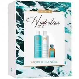Moroccanoil Infinite Hydration Spring Kit 2021 (Hydrating Shampoo 250ml, Hydrating Conditioner 250ml, Oil Treatment 25ml)